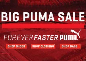Puma Clothing, Footwear & Accessories 50% Off or More From Rs. 220 low price