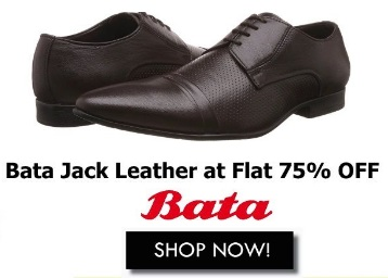Flat 75% Off – Bata Men's Jack Leather Hawaii Thong Sandals at Rs. 674 discount deal