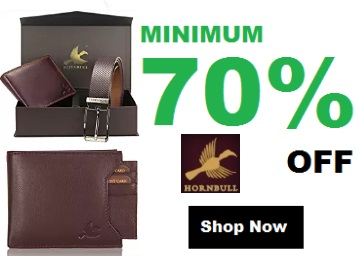 Real Leather:- Hornbull Wallets, Belts, Bags at Min. 70% off + Free Shipping low price