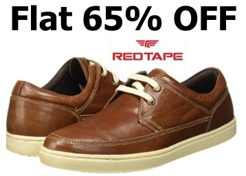 All Sizes:- Red Tape Men's Leather Casual Shoes at Just Rs. 1248 low price