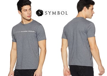 Get Symbol Men's Printed T-Shirt at just Rs.135 + FREE Shipping discount deal
