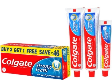 Colgate Toothpaste 200 g Pack of 2 with 1 Dental Cream at Rs.151 low price