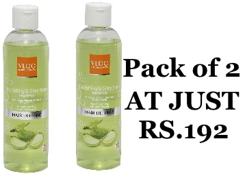 MRP Error : VLCC Nourishing & Silky Shine Shampoo Pack of 2 at Just Rs.192 discount deal