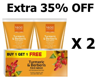 Big Deal:- Vlcc Turmeric Facewash [Buy 1 Get 1 FREE] + Extra 35% OFF discount deal