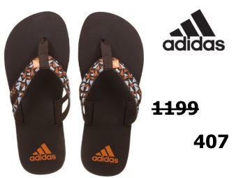 Flat 60% off:- adidas Men's Ozor M S Flip-Flops at Just Rs. 407 [After Cashback] discount deal