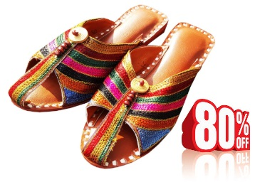 Flat 80% Off Ovolo Ladies Multicolor Jutti at just Rs.199 + FREE Shipping low price