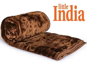 Little India Luxurious Embossed Korean Double Blanket at Flat 85% off discount deal