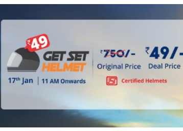 Register Now – Get Set Helmet at Just Rs. 49 [MRP Rs. 750]