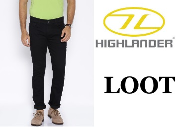 Buy HIGHLANDER Men Black Slim Fit Jeans at just Rs.262 + FREE Shipping low price