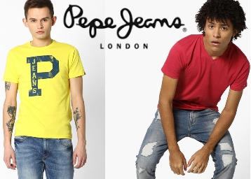 Flat 40 To 70% Off On Pepe Jeans Clothing From Rs. 320 low price