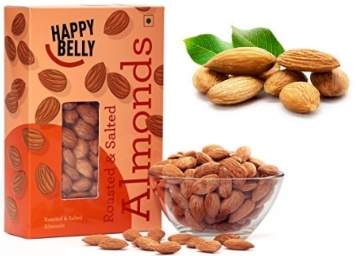 Happy Belly Roasted and Salted Almonds, 250g at Flat Rs. 75 Cashback discount deal