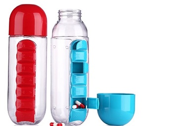 Inditradition Water Bottle with Medicine Storage at Just Rs.199 low price