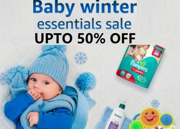 ENDING SOON : Baby Winter Essential Sale Upto 50% Off on Baby Care discount deal