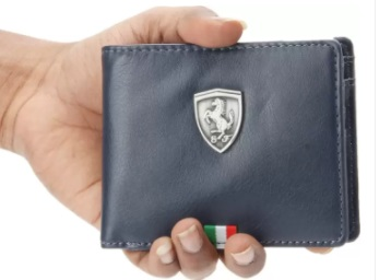 Flat 83% OFF:- Puma Men Blue Wallet at Just Rs. 374 [MRP Rs. 2299] discount deal