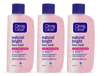 Clean & Clear Natural Bright Facewash, 100ml (Buy 2 Get 1 Free) discount deal