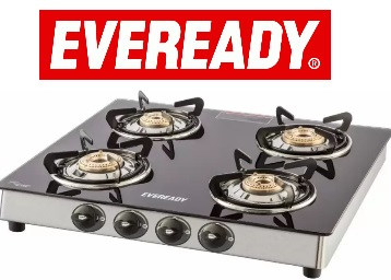 Eveready Brass, Glass, Stainless Steel Stove 4 Burner at Rs.2999 (Selected Pincode) low price