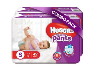 Huggies Wonder Pants Small Size Diapers (84 Pieces) at Just Rs.520(After Cashback) discount deal