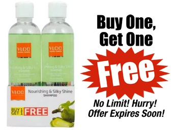 VLCC Nourishing & Silky Shine Shampoo [Buy 1 Get 1 FREE] at Rs. 208 discount deal