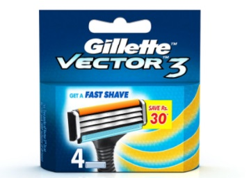 Big Discount – Gillette Vector 3 – 4 Cartridges at Flat 60% OFF discount deal