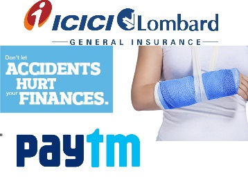 Personal Accident Insurance of Rs. 1 lac for 1 year at Just Rs.20 discount offer