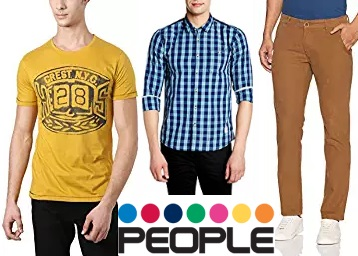 Price Drop :- People Clothing 50% or more from Rs. 124 + Rs.50 Cashback low price