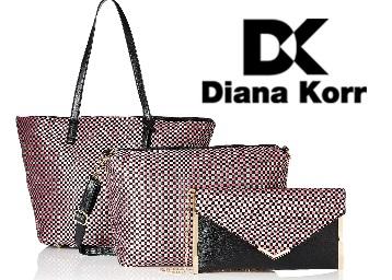 Flat 83% Off : Diana Korr Women's Handbag with Sling Set of 3 + 75 Back low price