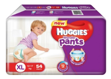 Flat Rs. 329 off:- Huggies Wonder Extra Large Diapers (54 Count) at Best Price low price