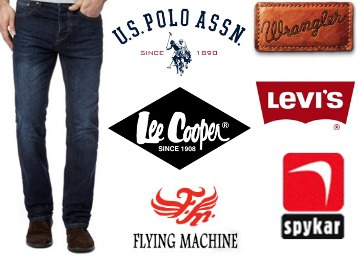 Top Brand Jeans [Lee, Levi's, Spykar, UCB] at Min. 60% off + 2 More Offer discount deal