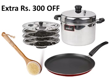 Wow Deal:- Pristine Idli Cooker & Non Stick Tawa at Rs. 717 [With Shipping] low price