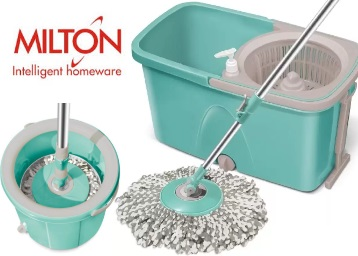 Lowest Ever :- Spotzero By Milton Spin Mop Set at Flat 50% off [Check PC] discount deal