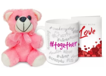 85% Off - Coffee Mugs + Teddy at Just Rs. 99 [ Flipkart Assured ]
