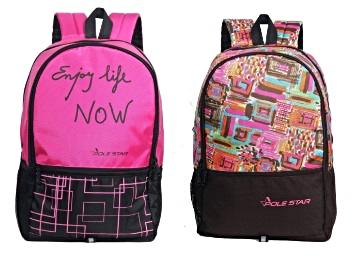 Huge Capacity – Polestar 32 Litres Backpack at Just Rs. 359 + Rs. 50 Cashback discount deal