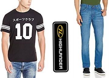 Highlander Men's Clothing at Flat 70% OFF From Rs. 164 low price
