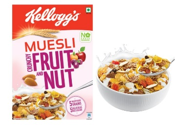 Grab Fast – Kellogg's Muesli Crunchy Fruit and Nut, 500g at just Rs.215 low price