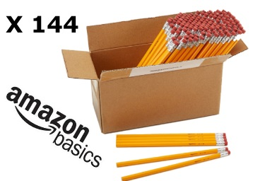 Steal: AmazonBasics Wood-cased 2 HB Pencils -Box of 144 Just Rs.432 discount deal