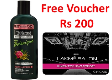Tresemme Botanique Shampoo 190ml + Free Lakme Salon Voucher at 200 discount deal