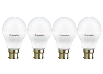 Crompton 9WDF B22 9-Watt LED Lamp, Pack of 4 @ Rs 349 low price