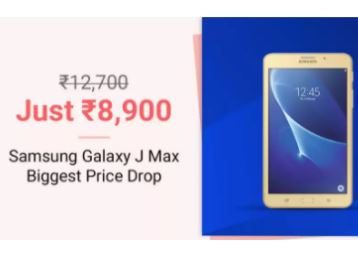 Biggest Price Drop – Samsung Galaxy J Max 8 GB 7 inch with Wi-Fi+4G Tablet low price