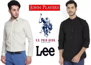 Men's Shirts at Minimum 60% OFF From Rs. 223 Lee, John Players & More low price