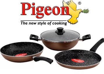 Pigeon Essential Induction Cookware Set at 69% Off [More Offers Inside] discount deal