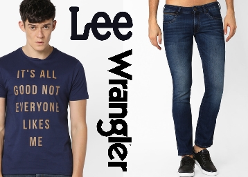 Ajio Big Sale – Lee, Wrangler Clothing Available at 70-80% Off discount deal