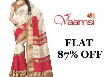 Vaamsi Art Silk Saree with Blouse Piece at 87% Off low price
