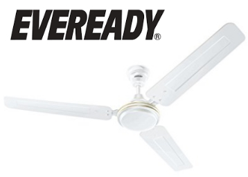 Eveready Fab M 1200mm 3 Blades Ceiling Fan (White) at Flat 40% OFF low price