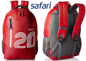 Extra 50 Cashback : Safari 27 Ltrs Blue Casual Backpack at Flat 72% OFF discount deal