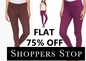 Flat 75% off : Stop Women's Solid Leggings at Rs.149 Only low price