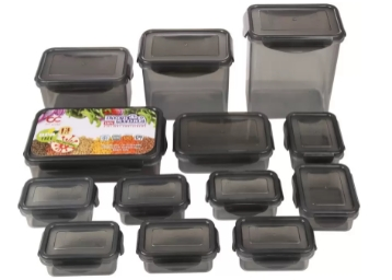 Bel Casa Lock & Store Pack of 13 Grocery Container at Flat 73% OFF low price