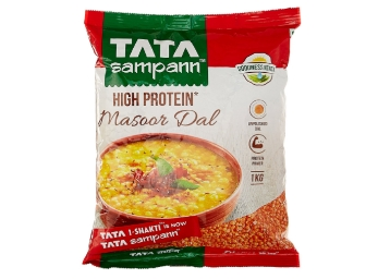 Tata Sampann Masoor Dal Split, 1kg at Just Rs. 48 [Buy More Save More] low price