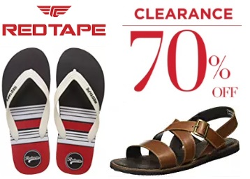 Min. 70% off on RedTape Leather Sandals from Rs.556 low price