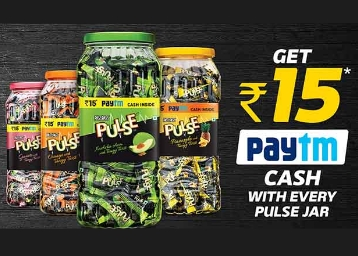 FREE Rs. 15 Paytm Cash With Every Pass Pass Pulse Jar low price