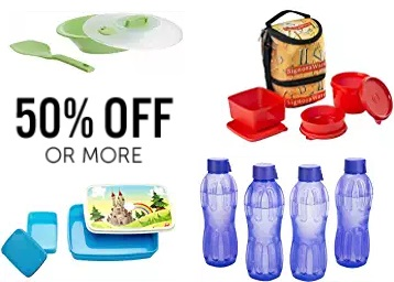Minimum 50% Off on Signoraware Lunch Box, Water Bottle & Containers low price